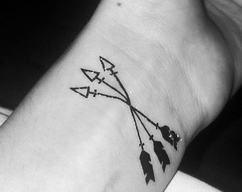 Arrows - Temporary Tattoos // Body Art // Cool // Tumblr Style // Summer // Party