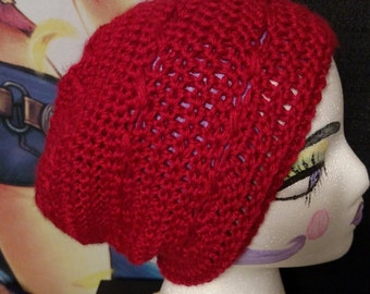 Cross Little Red Slouch Hat