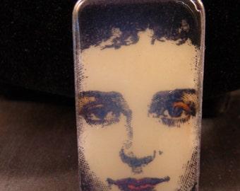 Gothic Victorian Beauty Domino Pendant