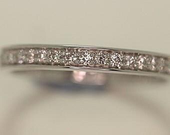 diamond  full eternity ring 18ct white gold .40 ct size .M /diamond eternity ring / diamond ring / anniversary ring / engagement ring