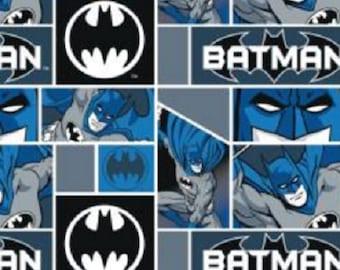 FLEECE Batman Blocks Fabric From Camelot