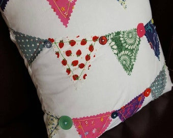Button and Bunting Cushion