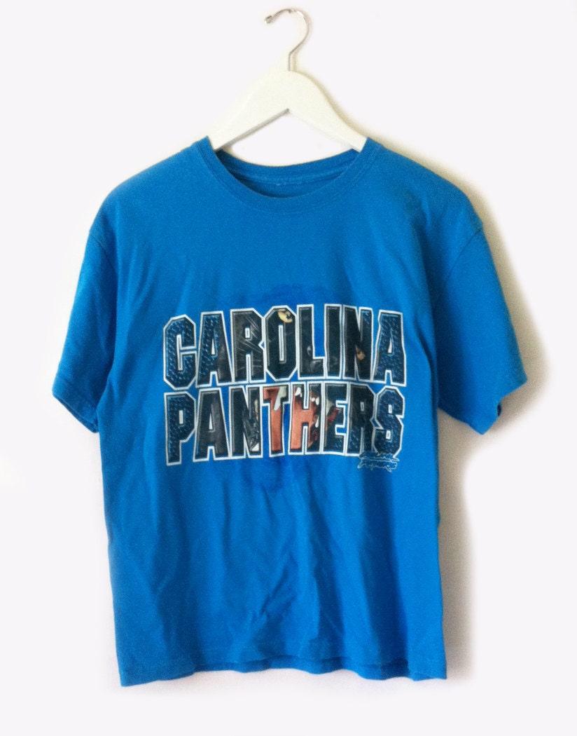 Vintage 90s Carolina Panthers T Shirt Size Medium