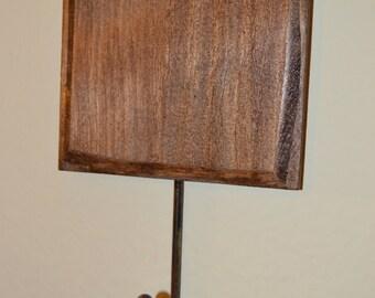CUSTOMIZABLE Wood Hook & Sign