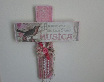 reclaimed painted and distressed cross