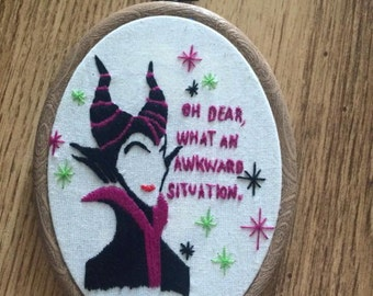 Maleficent embroidery