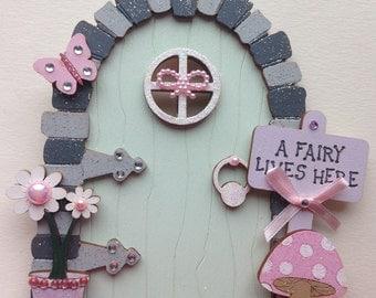 Lovely Hand Painted Flower Fairy Door
