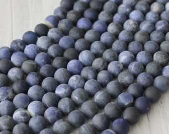 8mm sodalite, matte round Beads, Natural Gemstone, AA Gemstone, Round Beads, Frosted Beads,