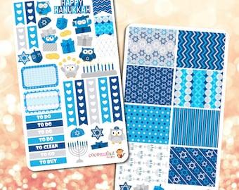 Hanukkah Themed Planner Stickers