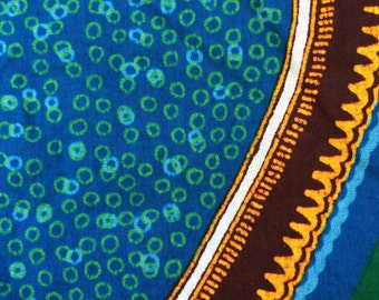 Handmade Vintage Indonesian Batik Sarong, 100 Percent Cotton Textile, New Sarong Fabric