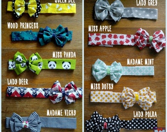 Headband with large bow - baby and child