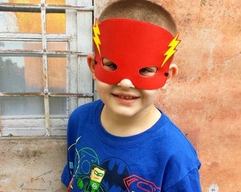 Embroidered Flash mask.Super hero mask.