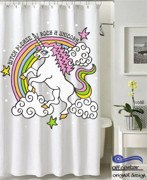 Custom shower curtain unicorn shower curtain funny shower - Coole duschvorha nge ...