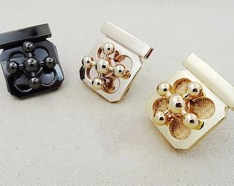 Fashion Golden Flower Bags Lock Catch, Purse Lock, Purse Twist Lock. Turn Lock,Metal Lock, Lock Clasp, Handbags Supply, Whole Sale