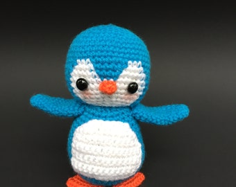 Penguin Toy, Amigurumi Penguin, Crochet Penguin, Blue Penguin, Christmas Penguin, Plush Penguin, Plush Toy
