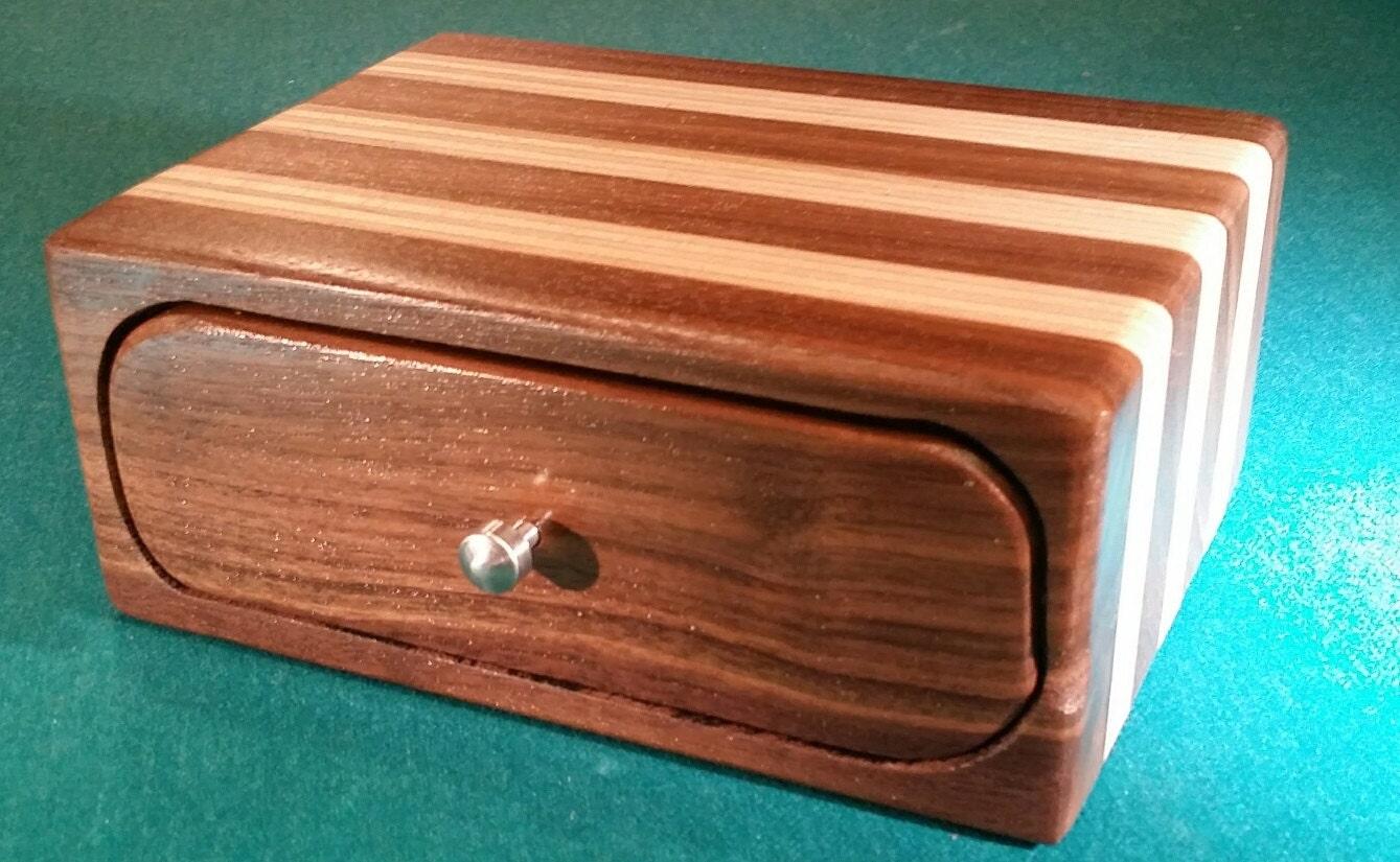 Birch Bandsaw Box ~ Walnut birch plywood bandsaw box
