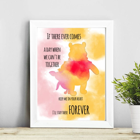 Winnie The Pooh Quote Art: Quote Winnie The Pooh Art Watercolor Print Print