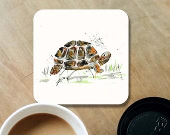 Tortoise coaster, wooden coaster, tortoise, table coaster, drink coaster, wood coaster, tortoise present, coasters, tortoise gift