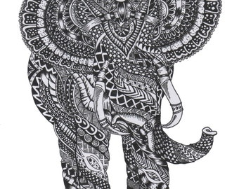 Patterned elephant print