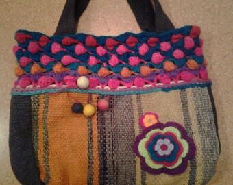 andean textile handbag