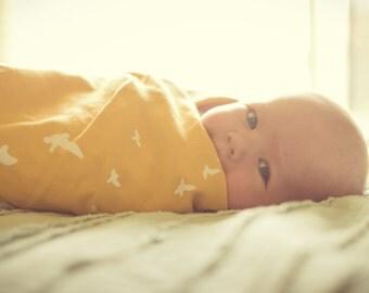100% ORGANIC muslin newborn swaddle blanket