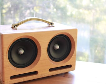 Portable Bluetooth Speakers | Lovingly Handcrafted | Salvaged Australian Timbers | Big Boombox Sound |