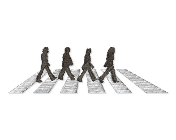 the beatles abbey road fill design for by appliquecreative. Black Bedroom Furniture Sets. Home Design Ideas