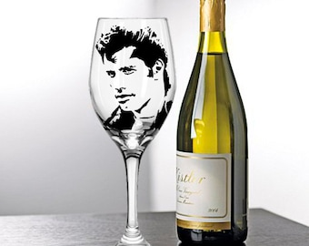 John Travolta, Grease, Painted Wine Glasses, Painted Wine Glass, Hand Painted Wine Glasses, Painted Glasses, White Wine, Red Wine, Stemless