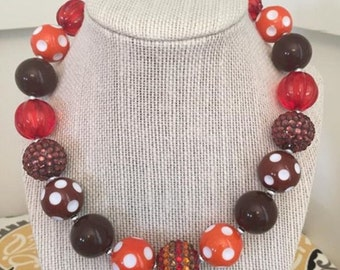 Fall inspired chunky child sized necklace