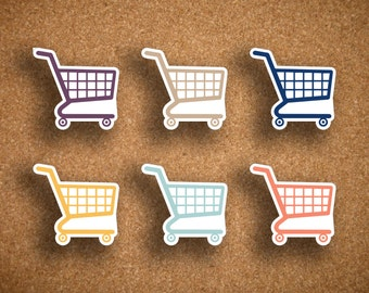 Inkwell Press Grocery, Shopping Cart Icon Planner Sticker IWP-DCSC1