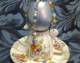 Tea Time Egg Ornament