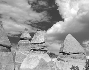 Tent Rocks 0454 bw