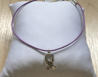Purple Eating Disorder Recovery Bracelet