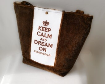 """keep calm"" handbag chocolate"