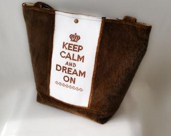 """keep calm"" handbag chocolate"
