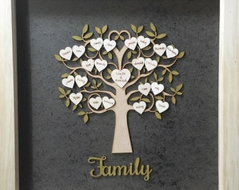 Personalised Wooden Family Tree Personalized
