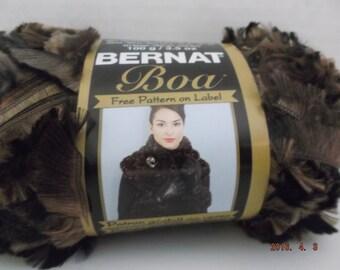 Bernat Boa Yarn ~ 100 Grams ~ 129 Yards ~ Dark Mink ~ # 5 Bulky ~