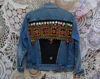 Vintage Levis Embellished Denim Jacket
