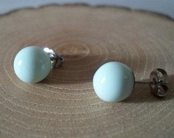 Mint Polymer Clay Earrings/ Stud Earrings/ Handmade