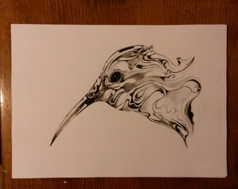 My Drawing Of An Ink Style Bird.