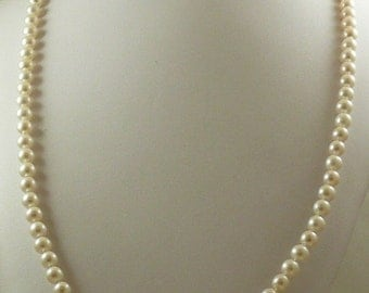 Freshwater Pearl Necklace 7.1mm 14k Yellow Gold Clasp 36""