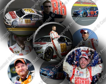 "Digital Bottle Cap Collage Sheet - Racing Favorites 2 - 1"" Digital Bottle Cap Images"