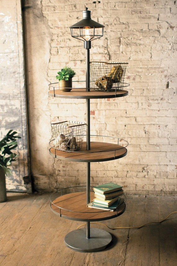 3 tier display floor lamp by lesspectacles on etsy for 3 tier floor lamp