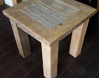 Barn Wood End Table