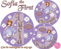 Sofia the First Round Edible Image Real Icing Cake Topper