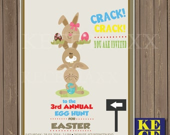 Easter Party Invitation,Easter Card Template,Easter Egg Hunt,Egg Hunt Invitation,Easter Invitation,Easter Invite,Invite,Invitation,Party