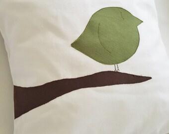 Bird on a Branch Pillow Cover