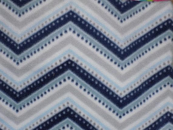 Dog Jammies Blue/Grey/White Zigzag fleece