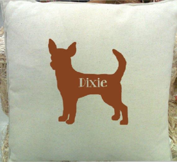 Pet Silhouette Pillow Cover Personalized Pillow by LettermixStudio