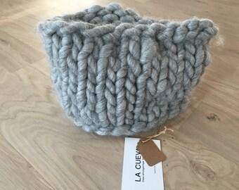 Gray loop scarf